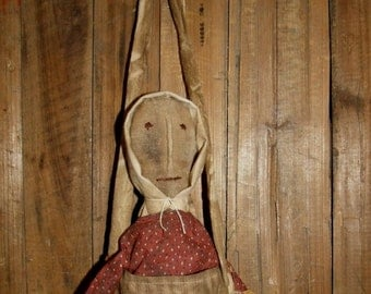 My Primitive Prairie Life CHURCH DOLL Instat Download Pattern