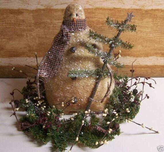 My Primitive MY TREE SNOWMAN Centerpiece Epattern 015