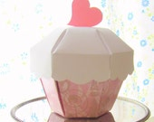 Cupcake Party Favor Boxes Set of 12