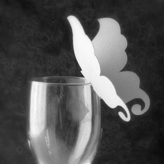 Butterfly Wineglass Place Cards - Reserved for Angela
