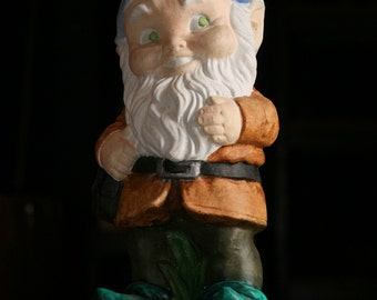 hand-painted gnome