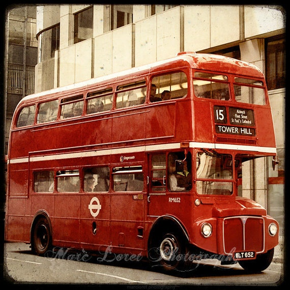 Double Decker  - Fine Art Print - London Photography - Etsy Wall Art - TFTeam - London Photograph