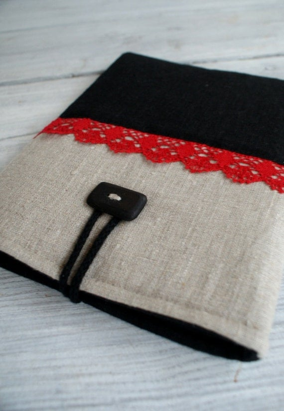 Special order/ iPad 1 or 2 Sleeve Case Cover/ Laptop sleevefor 13 inch Macbook/ padded/ linen