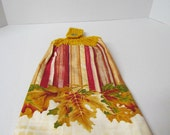 Crochet Topper Harvest TowelCrochet Topper Towel~Kitchen Towel~Crochet Kitchen Towel~House Warming Gift~Birthday Gift~Gift for Mom~Autumn