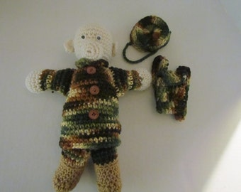 Crochet Amigurumi Military Army Bear Toy~ Camouflage Bear~ Gift for Military Child~Birthday~ U.S. Army~Child~ Gift for Soldier