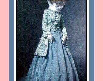 Victorian Ladies- Garden Walking Tour Ensemble-Historical Sewing Pattern-Elegant Long Jacket-Full Double Pleat Skirt-Size 6-12- Uncut -Rare