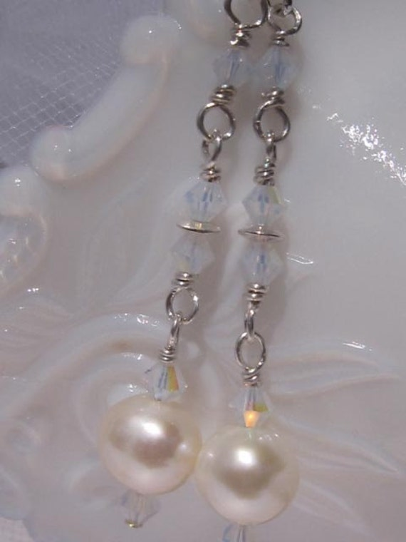 fatdog The Sweetest Things Earrings - STED108 Freshwater Pearl and Swarovski Crystal Dangles
