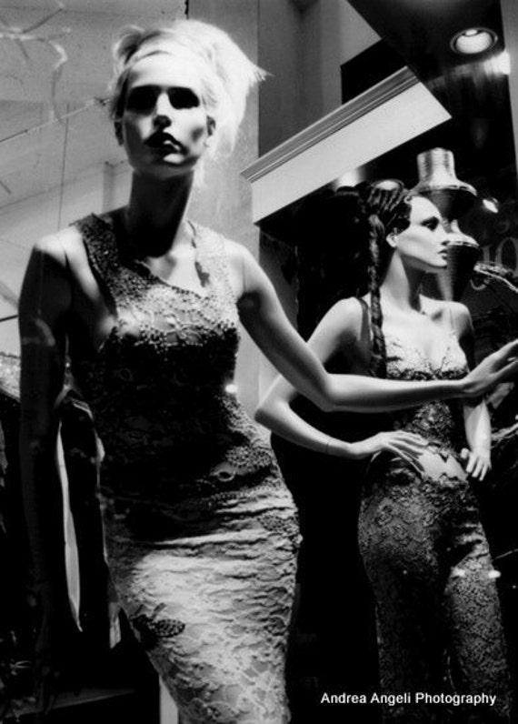 Miami mannequins. Matted fine art photograph.