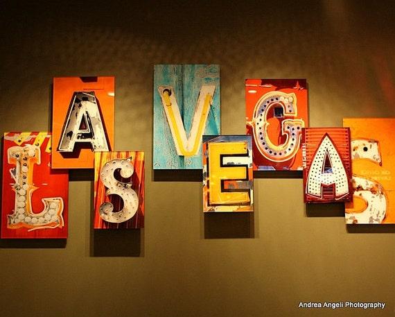 Las Vegas sign. Matted Fine art photograph