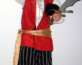 Boys Custom Made Pirate Costume Shirt, Vest, Pants, Sash - TheVoodooKitten