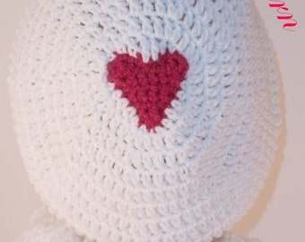 "Queen of Hearts Slouchy Hat """"""P A T T E R N"""""""