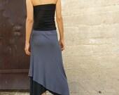 Diagonal womens skirt-Convertible skirt-Maxi skirt-Asymmetric skirt-Layered skirt-Mix and match your favorite colors