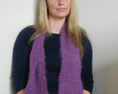 Hand Knitted Super Soft Fluffy Scarf
