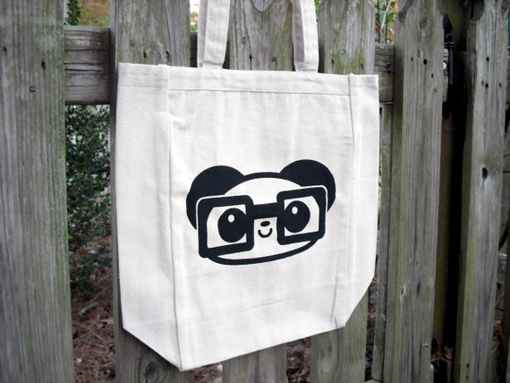 LAST ONE - Nerdy Panda Tote Bag