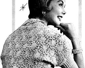 Shrug Sweater Made w/Daisy Winder Crochet Pattern 723112