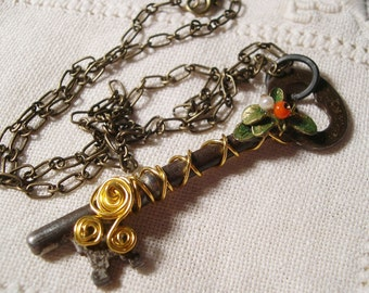 Steampunk Necklace Steampunk Key Jewelry
