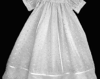 Eyelet Baptism, Christening Gown