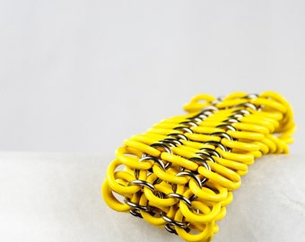 Yellow - Chainmaille Bracelet - Stretchy