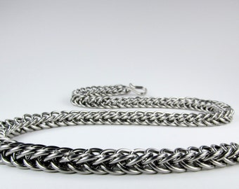 Stainless Steel - Chainmaille Necklace - Flat Persian