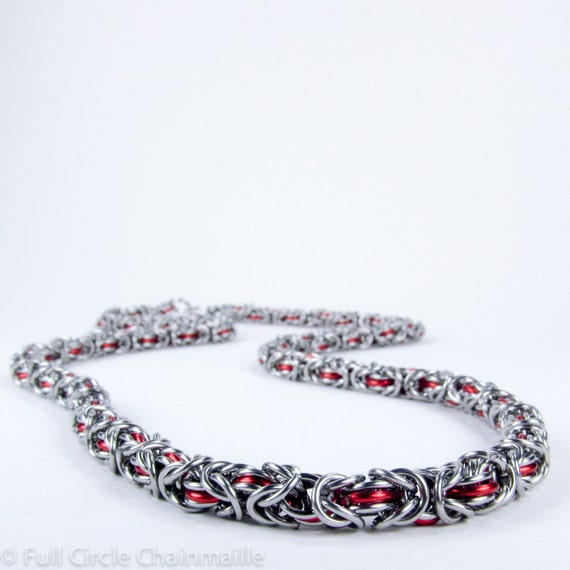 Red - Chainmaille Necklace