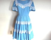 80s Square Dance Dress 80s Does 50s Country Sz M As Is Costume