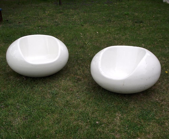 SALE Eero Aarnio Pastil Chairs  Gyro Chairs Vintage Floating Fiberglass Chairs Mid Century Modern Indoor Outdoor Furniture  1968 Set of 2
