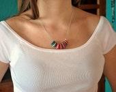 Crochet Friendship Necklaces on Silver Chain. Chose Your Colors.