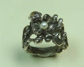 Sterling silver  Otter with pearl also available in 14 kt gold Free Shipping USA