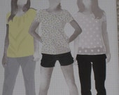 Pants Capris Shorts Built by Wendy Simplicity 3850 Sewing Pattern Plus Size 12 14 16 18 20