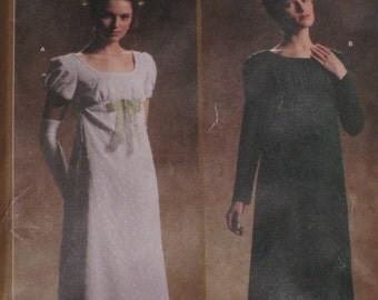 Regency Empire Waist Titanic Dress Sense Sensibility Simplicity 4055 Sewing Pattern Plus Size 14, 16, 18, 20 Bust 36 38 40 42