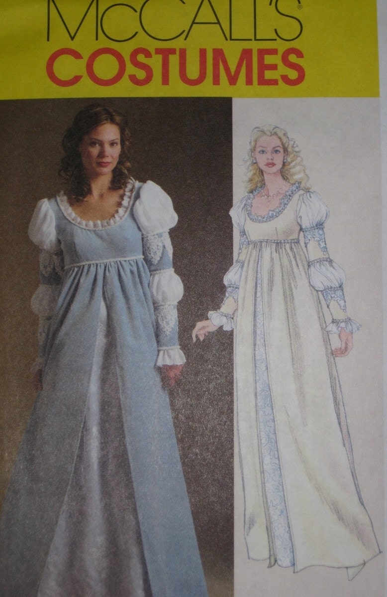 Renaissance dress sewing pattern mccalls 5444 by for Plus size wedding dress sewing patterns