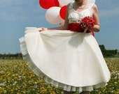 Sample Sale -  Rose - 1950s Tea length wedding dress