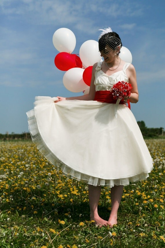 Sample Sale -  Rose - 1950s Tea length wedding dress
