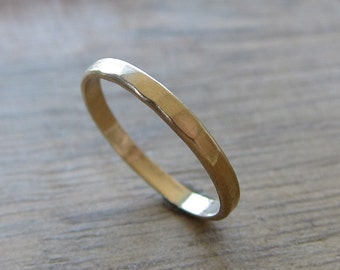 Gold Textured Ring - 14k Gold Textured Ring - Gold Stacking Ring - Stackable Rings - Recycled Wedding Band - Modern Ring Band - Matte Finish