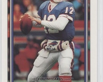 RARE 1992 Topps High Series JIM KELLY Football Card Limited Production