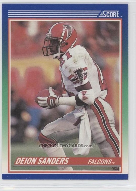 1990 Score DEION SANDERS Hall of Famer Football Card FALCONS
