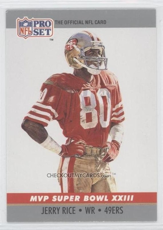 Official NFL Football Card 1990 JERRY RICE Super Bowl 23 Mvp