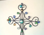 Flower Power Decorative Wall Cross