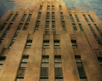 Montreal Art Architecture Photography Art Deco Buiding Aldred Building Canadian Art Quebec Print Metallic Paper - Brawn