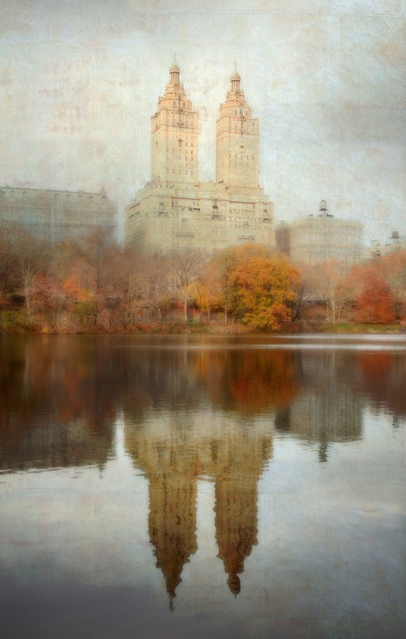 New York City Photography Large Size Wall Art San Remo Apartments NYC Architecture Fall Photo - Elegance of Yesterday