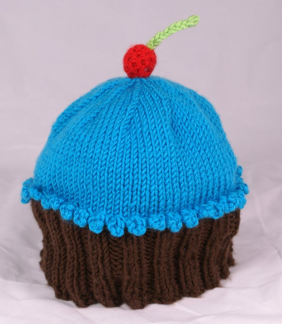 Ready to Ship 6-12 Month Cupcake Hat with Cherry