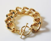 Original Gold Chain Bracelet with Toggle Clasp