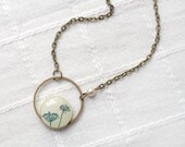 Natural History necklace,  for her, Nature necklace, Ivory necklace, Rustic necklace, Botanical necklace, Floral necklace