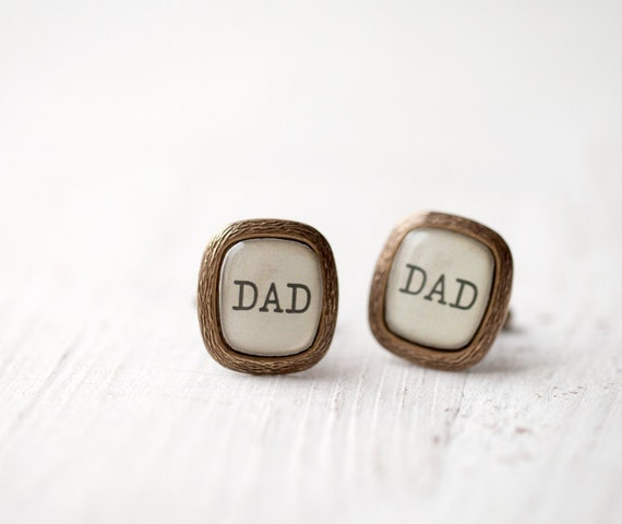 Dad cufflinks - Fathers day gift - Gift for dad - Father of the bride cuff links - Father cufflinks - Rustic Wedding cufflinks (C021)