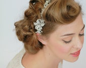 Bridal  Headband, Wedding Crystal  Headpiece , Wedding Headband , Rhinestone Hair Wrap , Floral  Hair  Accessory