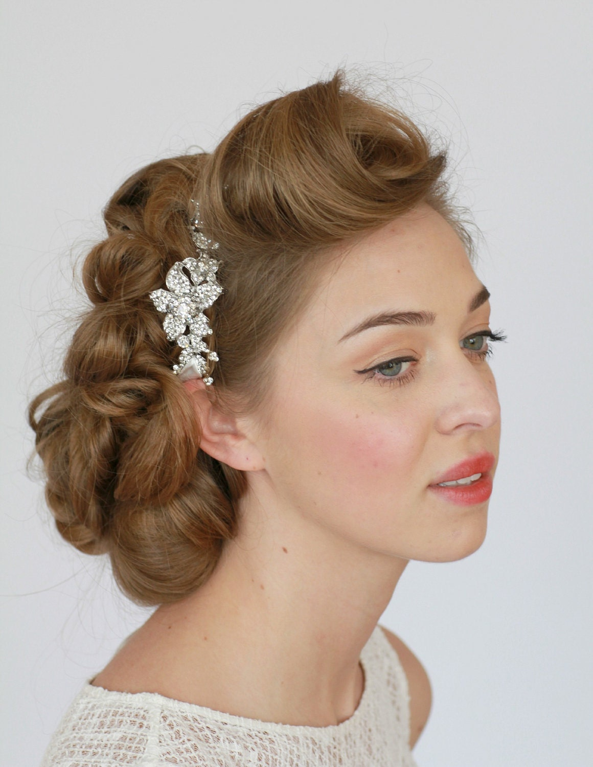 vintage style hair accessories bridal headband headband rhinestone by 3068