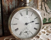 1885 Antique Waltham Pocket Watch by avintageobsession on etsy...20% Discount
