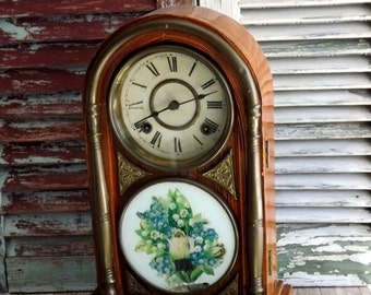 Antique Japanese Mantel Clock by avintageobsession on etsy