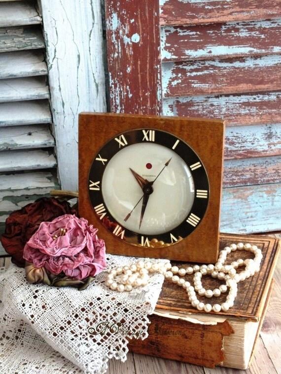 Vintage  GE Telechron Art Deco Table Clock by avintageobsession on etsy