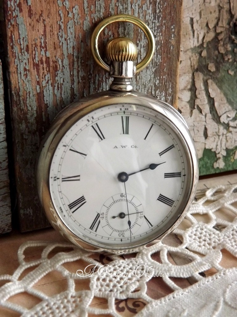 1885 antique waltham pocket by by avintageobsession